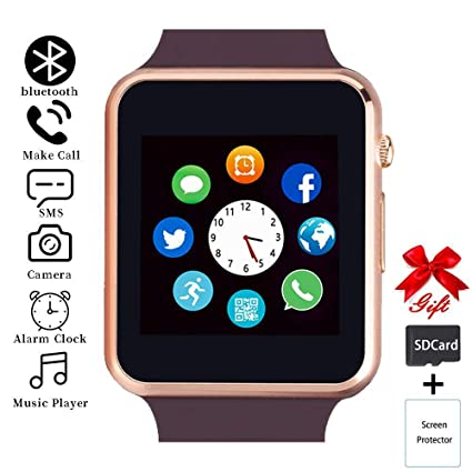 Smart Watch,Unlocked Smartwatch Compatible with Bluetooth/Android/iOS (Partial Functions) Touchscreen Call Text Camera Music Player Notification Sync ...