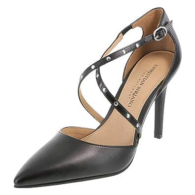 59cadca984d1 Christian Siriano for Payless Black Women s Klassy Pin Stud Heel 6.5 Regular