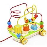 ACOOLTOY Rotolamento Bead Maze in Legno Educativo Matematica Giocattoli per i Bambini