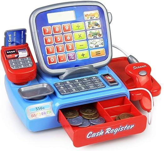 DRAKE18 Simulación para niños supermercado Caja registradora Juego de Juguetes Accesorios de casa de Juego educación temprana Accesorios de Juguete educativos niño niña cumpleaños: Amazon.es: Hogar
