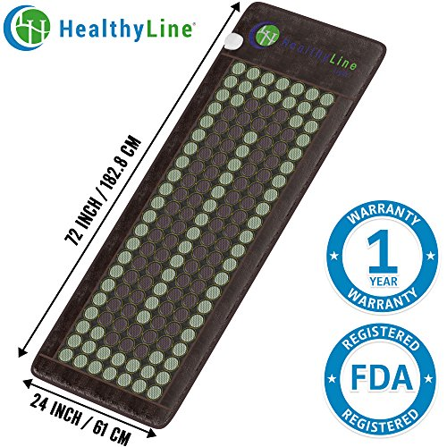 HealthyLine Far Infrared Heating Mat 72''x24'' Relieves Sore Muscles, Joints, Arthritis Natural Jade & Tourmaline with Negative Ions InfraMat Pro Most Flexible Model-Easy to roll-up(Light & Firm) by HealthyLine
