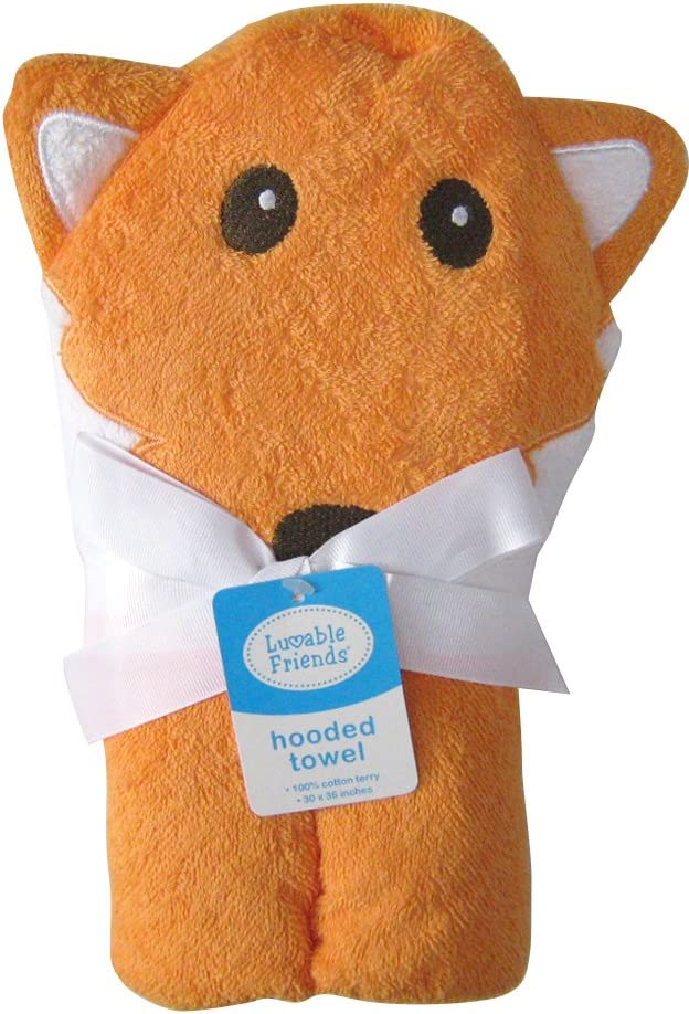Fox Luvable Friends Animal Face Hooded Towel