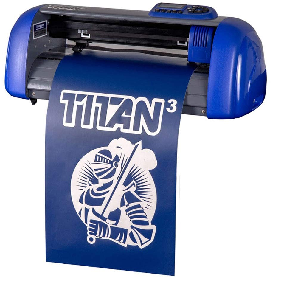"15"" USCutter Table Titan 3 Craft Vinyl Cutter w/ARMS Contour Cutting + Design & Cut Software"