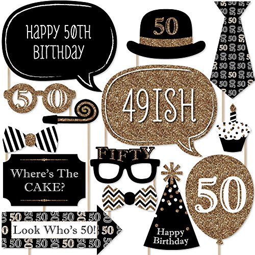 Adult-50th-Birthday-Gold-Photo-Booth-Props-Kit-20-Count