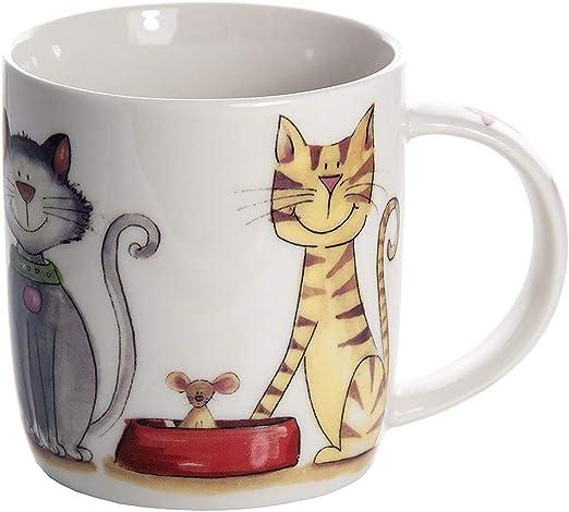 Taza de Cerámica, Taza de Gato para Té Café, Regalo para los Amantes del Gatos e Animales: Amazon.es: Hogar