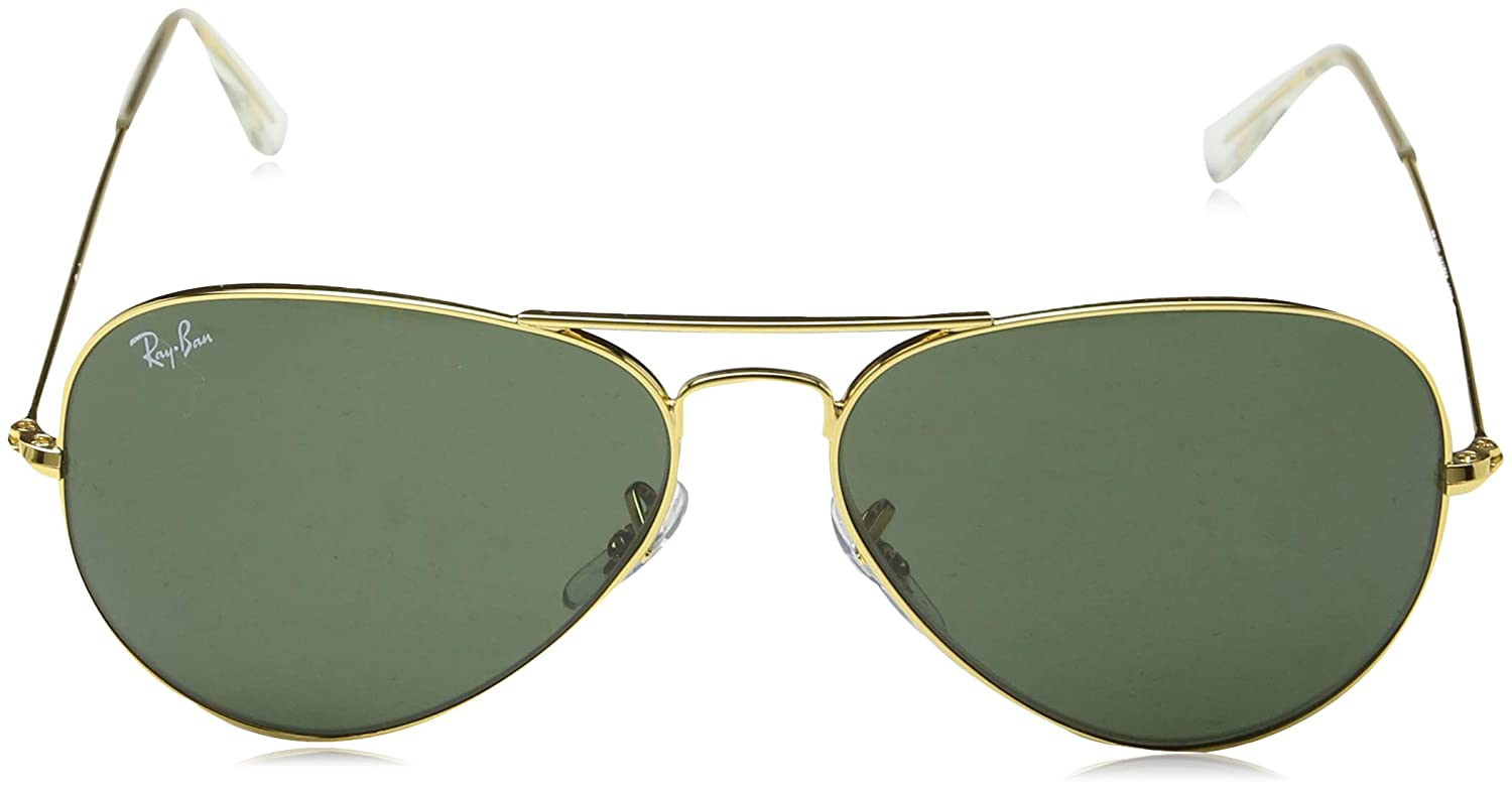 6b805d8b2 Ray-Ban UV protection Aviator unisex Sunglasses (L0205|58  millimeters|Green): Amazon.in: Clothing & Accessories