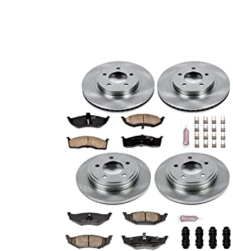 Autospecialty KOE6177 Daily Driver 1-Click OE Replacement Front//Rear Brake Kit