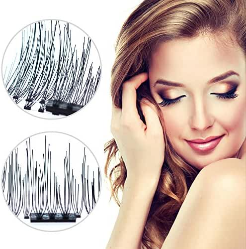 Professional 3D Reusable Dual Magnetic Fake Eyelashes 2 pairs (8 pieces)