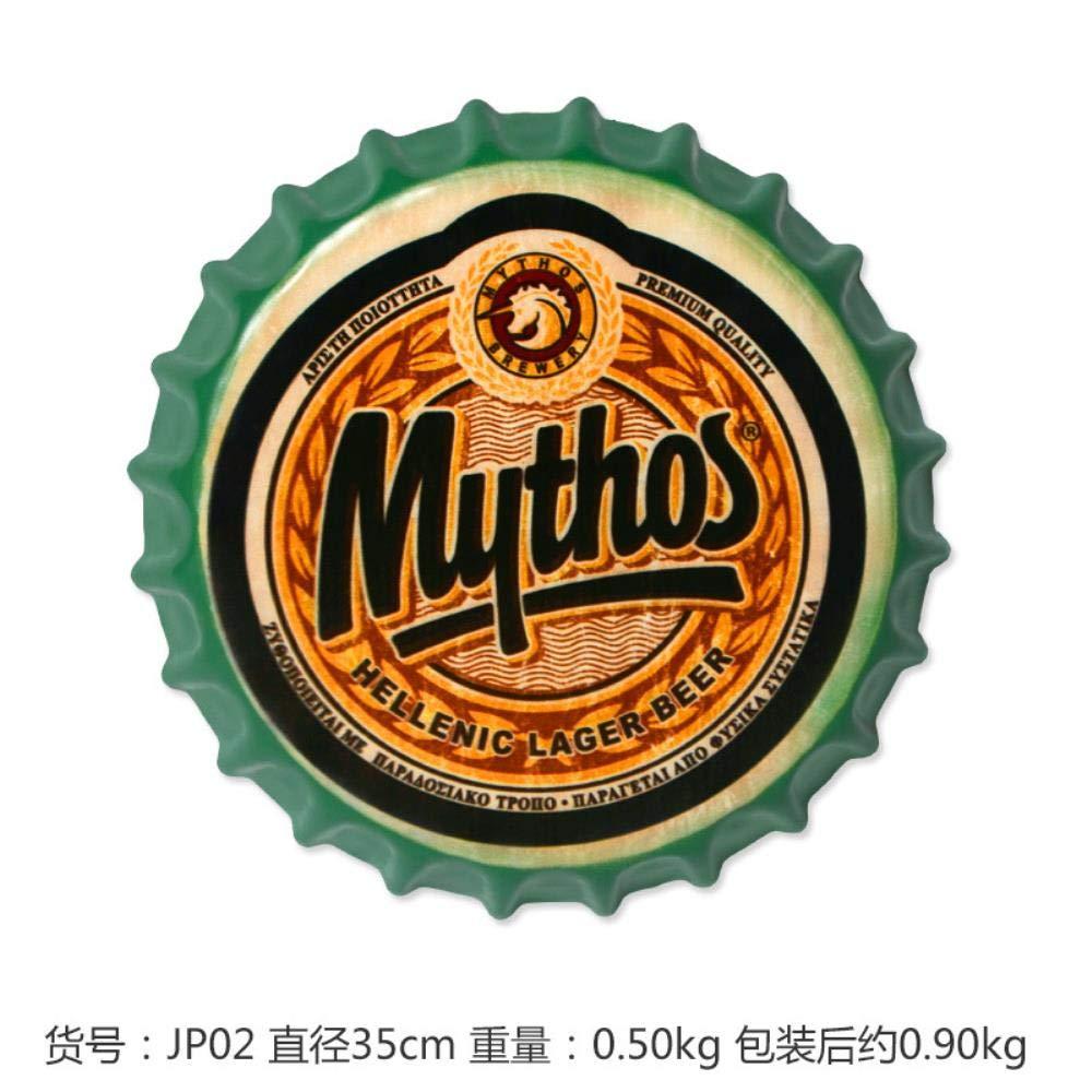 Mythos Cerveza Grande Cubierta Cartel de Chapa Logotipo ...