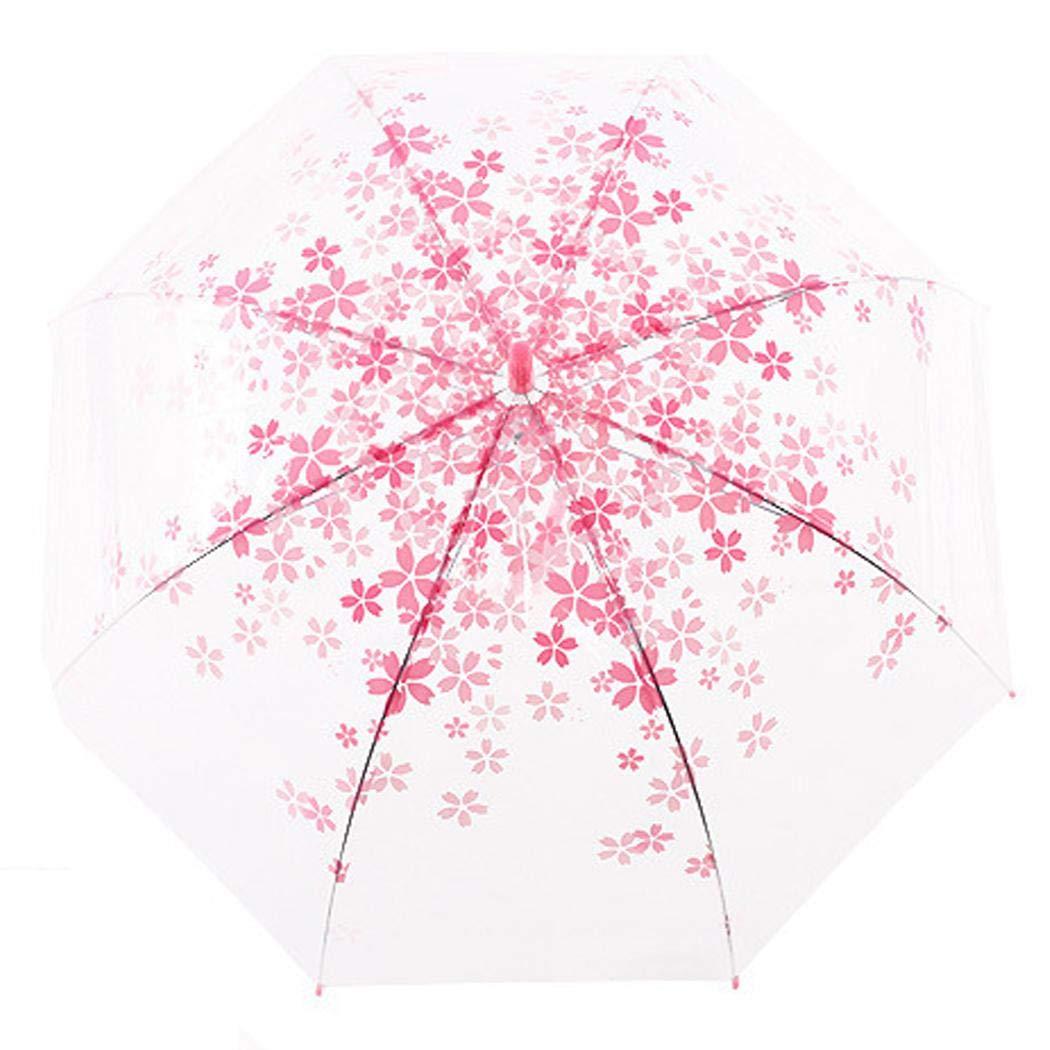 XioNiu Creative Cherry Blossom Transparent Umbrella Bubble Shape Umbrella Golf Umbrellas