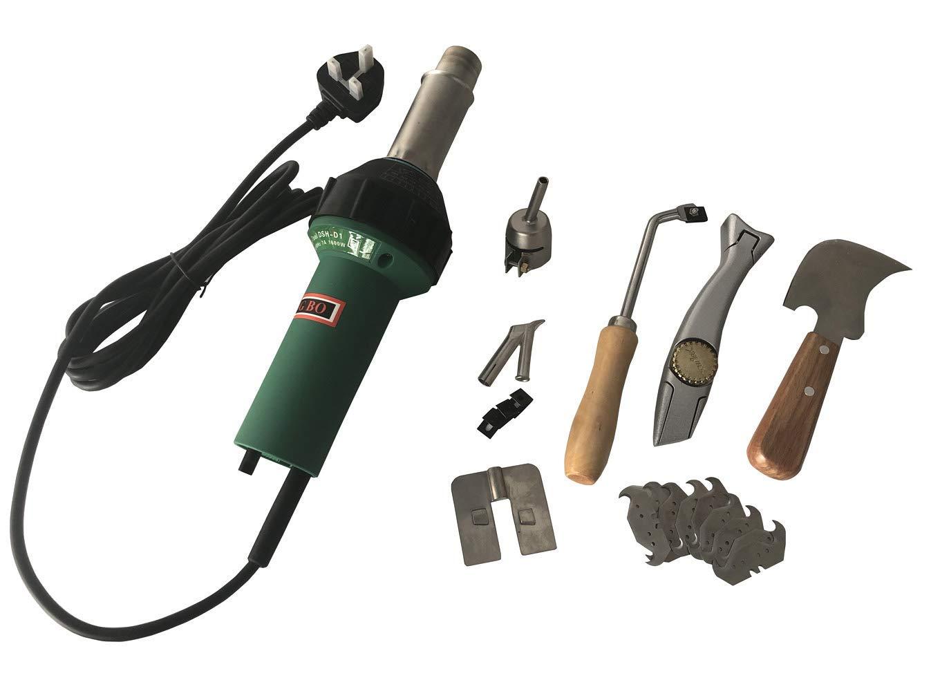 Sunwin 1600W Handheld Plastic Welder Hot Air Gun Vinyl Welding Heat Gun 2600Pa Welder Pistol Flooring Tools Flooring Welding Kit 110V