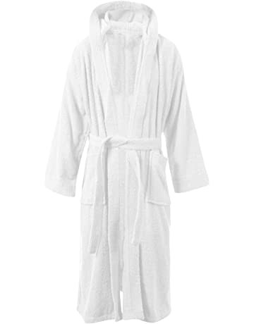 MyShoeStore Womens Mens 100% Luxury Egyptian Cotton Super Soft Terry  Towelling Bath Robe Unisex Ladies 8e1b26efe
