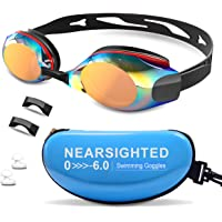 DEFUNX Swimming Goggles,Polarized Optical Swim Goggles UV Protection Anti-Fog Leakproof Myopic Goggles for Shortsighted…