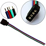 ZITRADES LED RGB Light Strips 10 Pcs Female Connector RGB Wire Cable For SMD 5050/3528 RGB LED Strip light BY ZITRADES