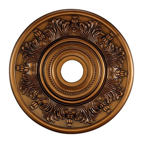 Elk M1004AB Laureldale Ceiling Medallion, 21-Inch, Antique Bronze Finish by ELK