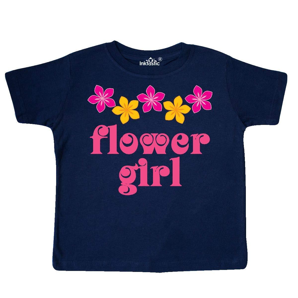 inktastic Flower Girl Tropical Wedding Toddler T-Shirt