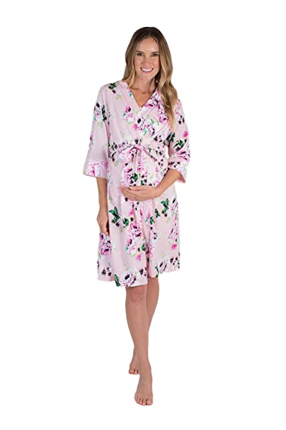 Baby Be Mine Mommy   Me Delivery Robe with Matching Baby Receiving Gown    Hat Set ae706d6640