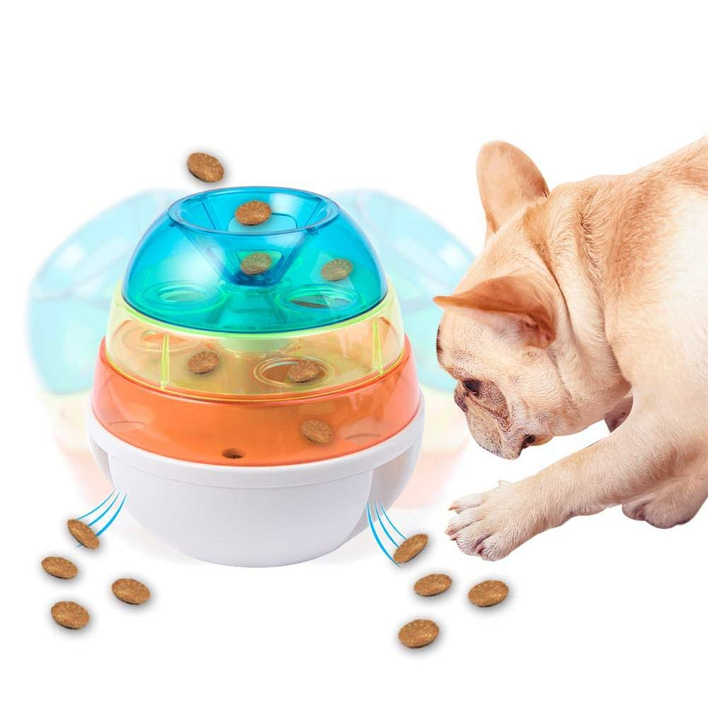 Interactive Food Dispensing Chew Toys Slow Feeder Tumbler Balls for Small Medium Large Breed Dogs & Cats, Dog Food Ball, Pet IQ Treat Ball