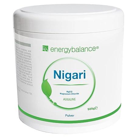 EnergyBalance Magnesium-Chlorid-Nigari Pulver 500g   Magnesiumchlorid aus Rohsole   Vegan   Glutenfrei & Laktosefrei   Ohne Z
