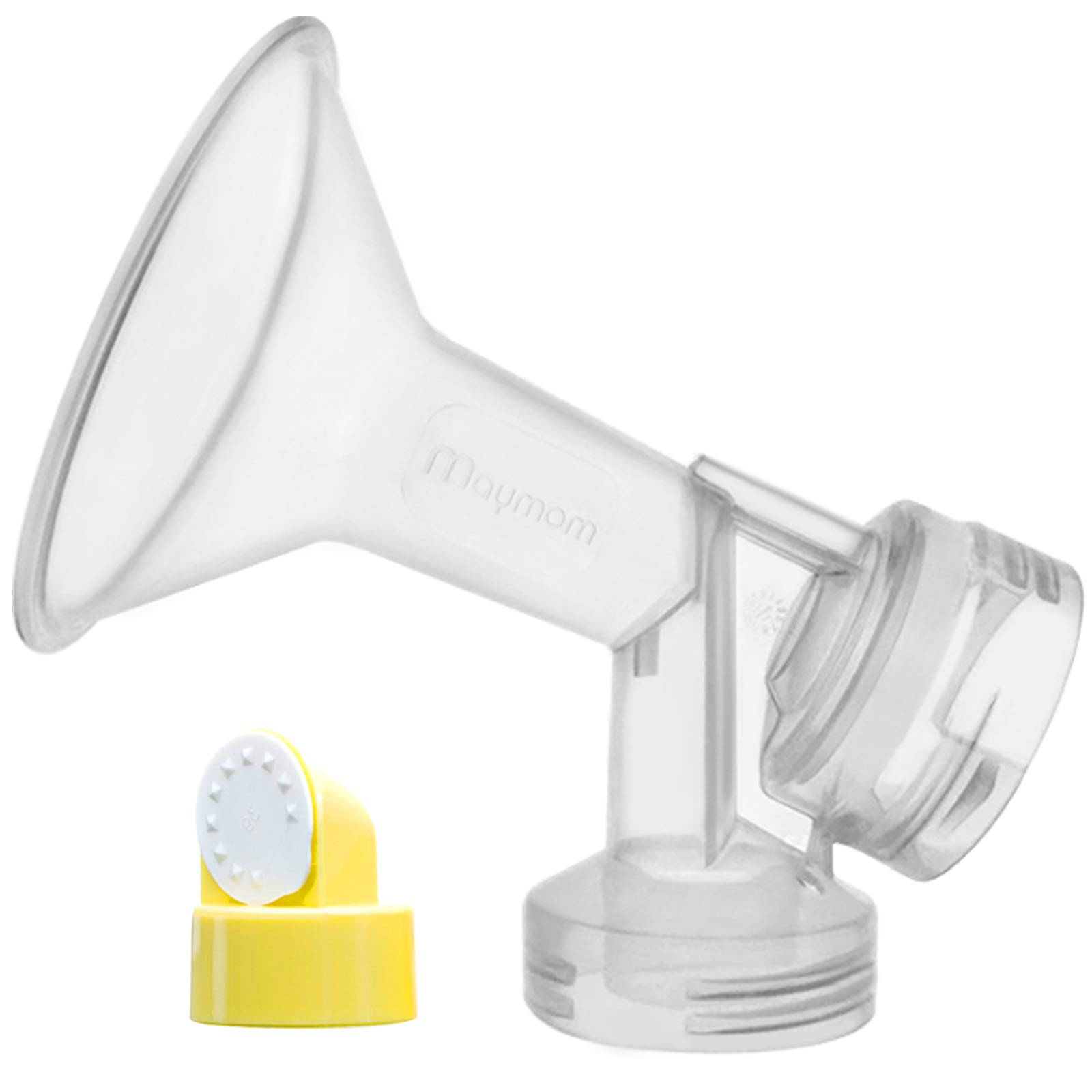 Maymom Breast Shield with Valve and Membrane for Medela Breast Pumps (15 mm, 1- Piece)