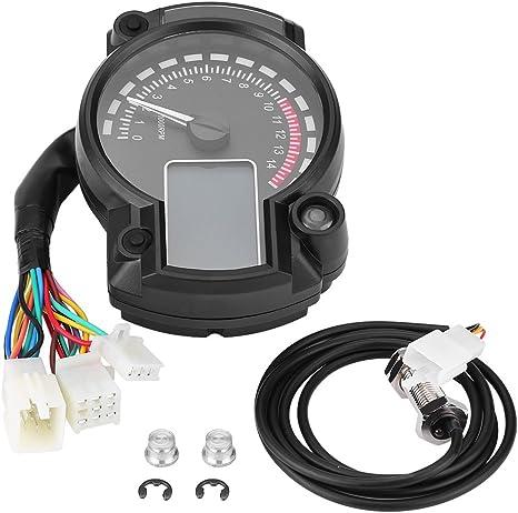 Tachimetro Digitale LCD Colorato Contachilometri Contagiri con Sensore diVelocit/à Universale Tachimetro del Motociclo