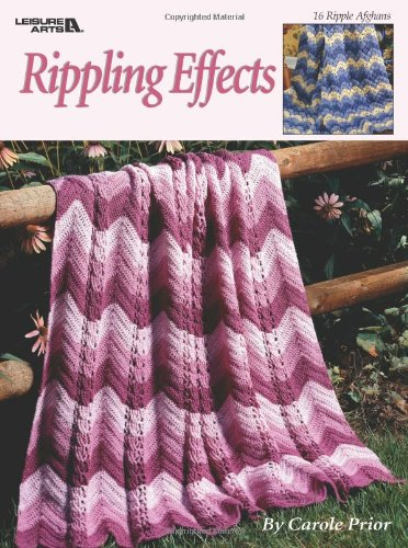 Afghan Garden Crochet - Rippling Effects  (Leisure Arts #2761)