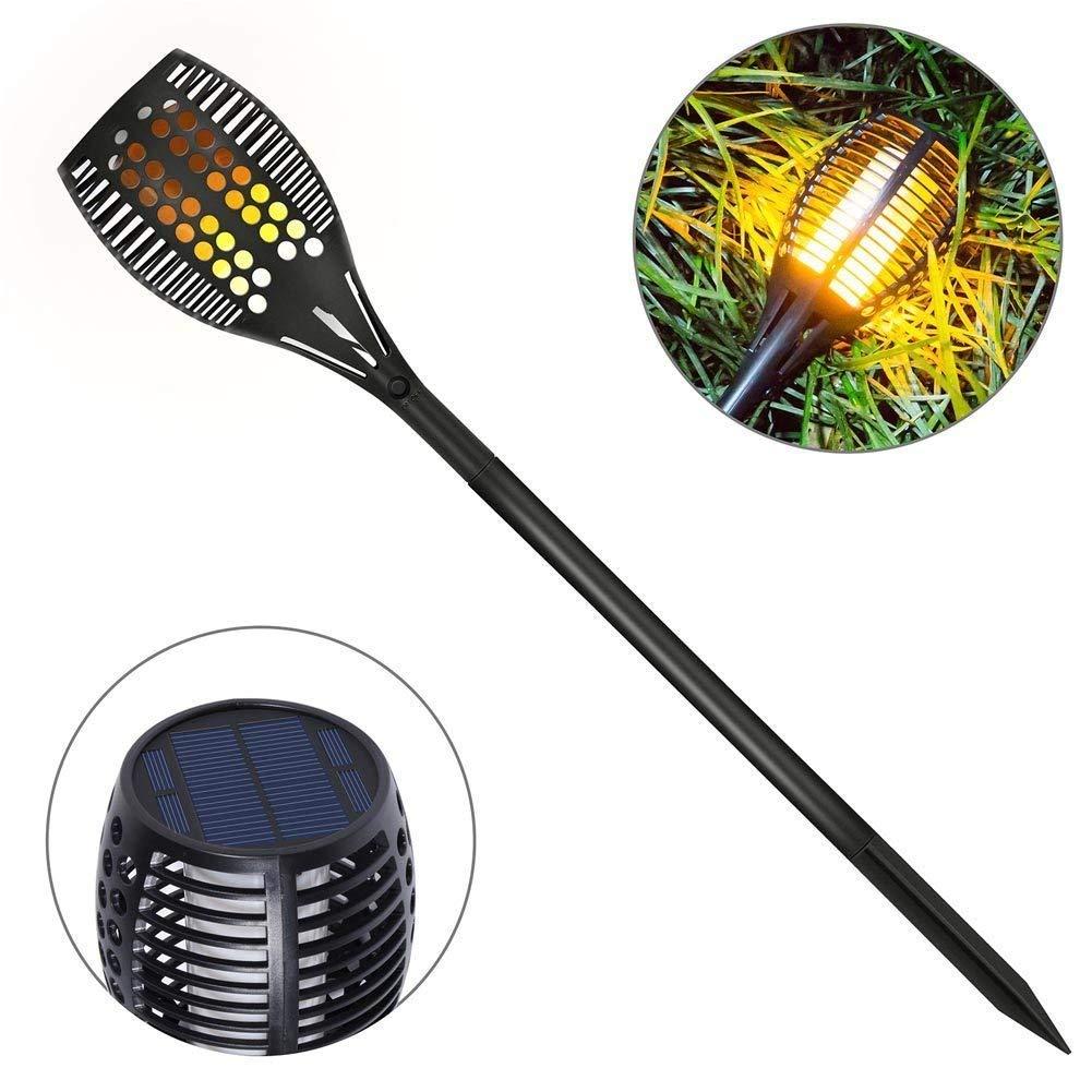 Openuye 2 Stück Solar Gartenleuchte Solar Garten Beleuchtung Garten Licht, Solarlampe mit IP65 wasserdicht und realistischen Flammen