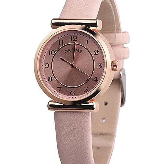 Scpink Reloj de Cuarzo para Mujer, Liquidación Relojes de Pulsera analógicos para Mujer Relojes de Mujer Relojes de Cuero de PU Nuevo (Blanco): Amazon.es: ...