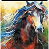 Westland Giftware Marcia Baldwin Canvas Wall Art Equs Nine Horse, 15-Inch by 15-Inch