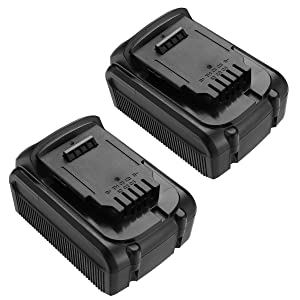 5500mAh 2 pack 20V Max Premium XR Lithium Replacement Battery Compatible with Dewalt DCB205 Dewalt DCB180, DCB204-2, DCB205-2, DCB200-2, DCB200 Dewalt DCD/DCF/DCG Series Dewalt 20V Battery