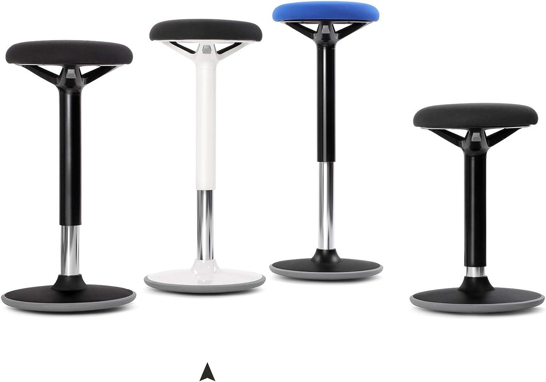 SONGMICS Taburete Activo Silla de Equilibrio Giratoria de 360/° Casa Taburete de Temblor No Requiere Montaje Taburete para Oficina Negro OSC05BK Altura Ajustable 60-85 cm