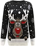 Unisex Kids Childrens Boys Girls Child Christmas Party Xmas Novelty Reindeer Santa Jumper Sweater Top AGE 3-12