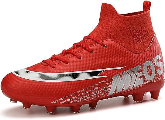 LIANNAO Botas de Fútbol para Hombre Spike Aire Libre Profesionales AtletismoTraining Deporte Zapatillas de Fútbol Hombre Zapatos de Fútbol.