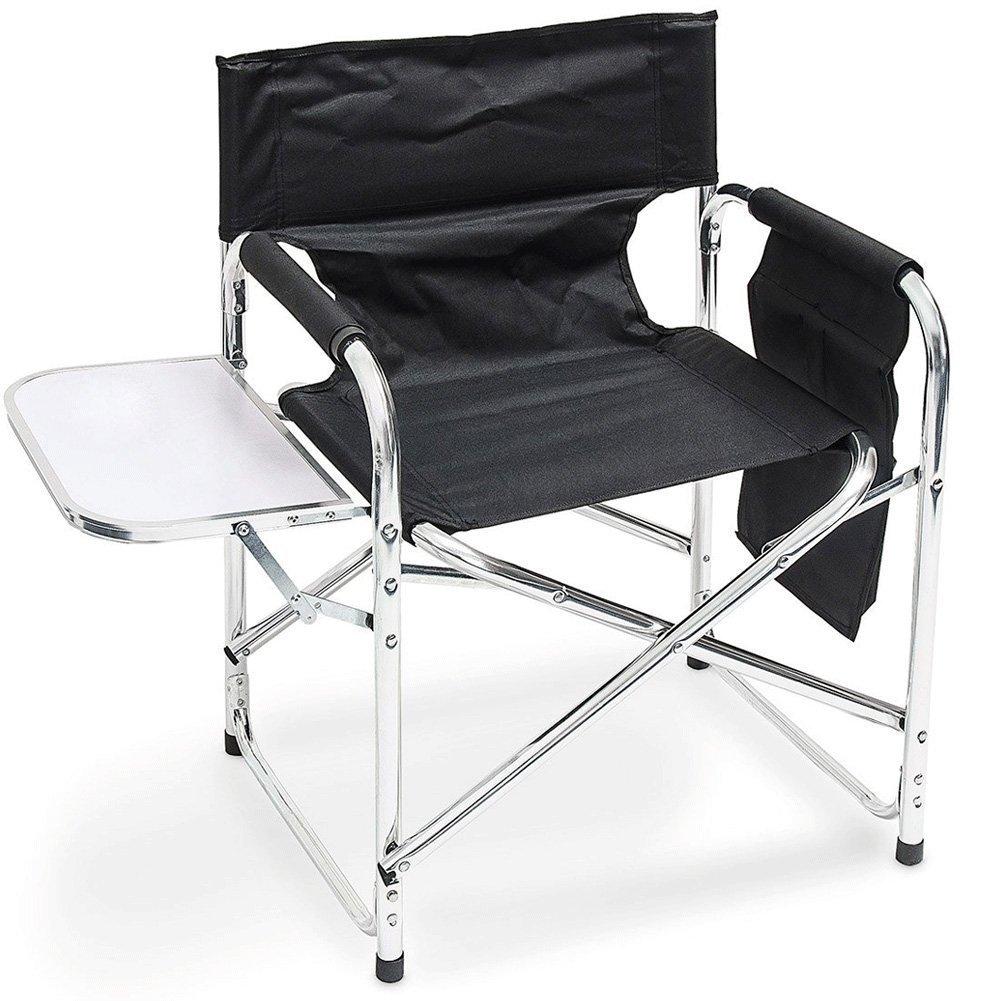 Lifetime Garden 29181 Stuhl Camping und Beistelltisch Aluminium 48 x 10 x 78 cm