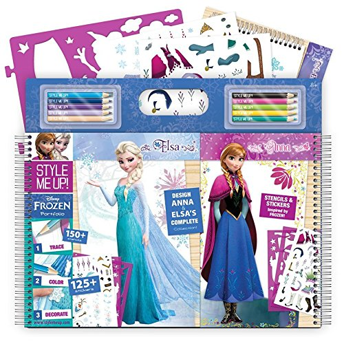 Style Me Up - Disney Frozen Coloring Book for Girls - Girls Sticker Activity Book - Art and Craft for Girls - SMU-2043 (Elsa Arts And Crafts)