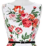 Floral 50s Style Dresses for Women Knee Length Size