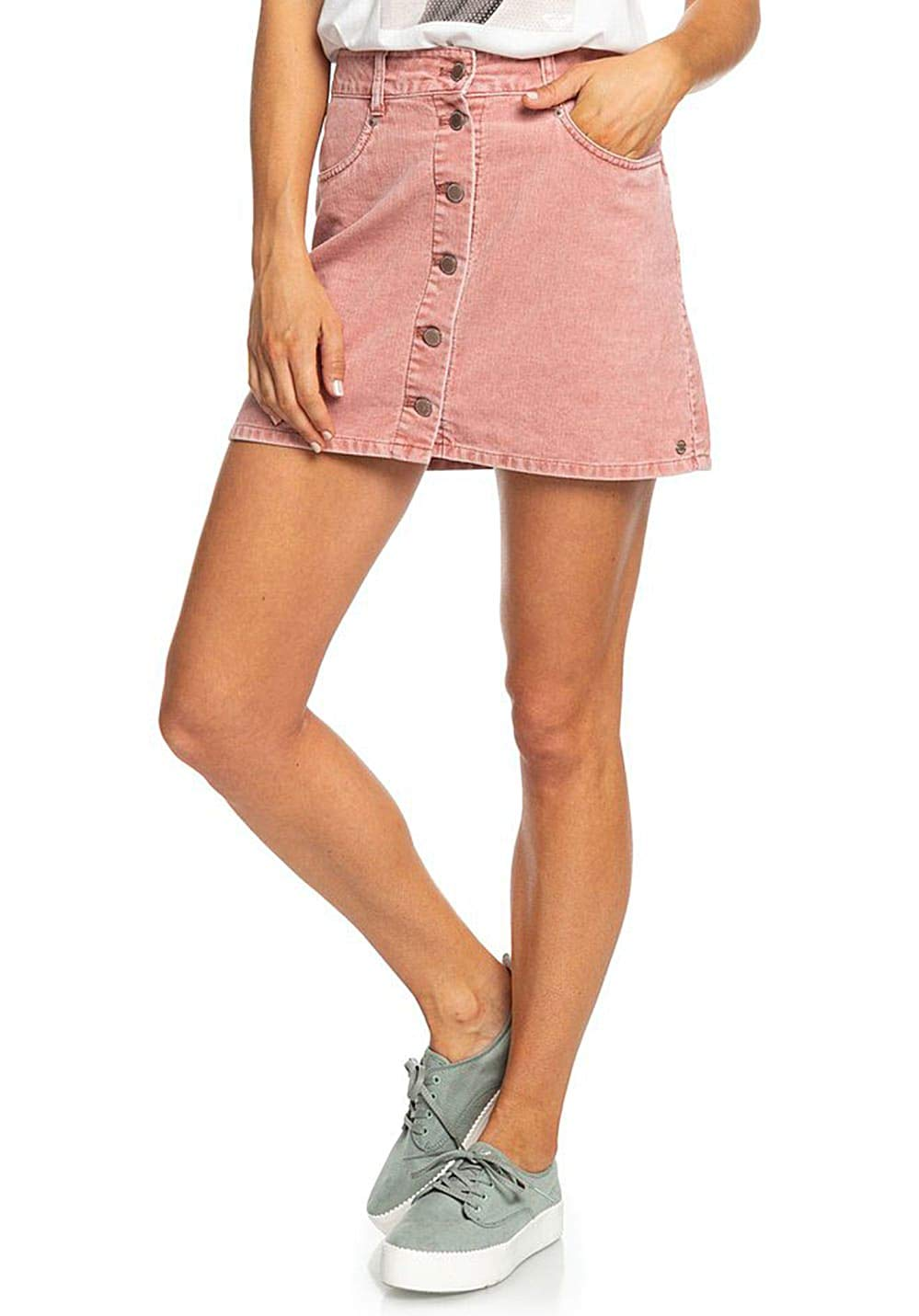 Roxy Unforgettable Fall-Button Through Corduroy Skirt para Mujer ...