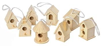 Vbs 8 Deko Vogelhauser Zum Aufhangen Holz Vogelhaus Basteln