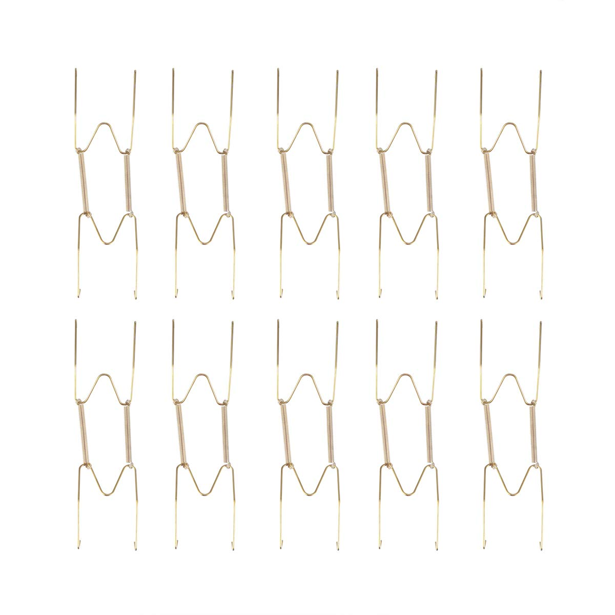Dorado TOPBATHY 10pcs 8 Pulgadas de Acero Inoxidable Colgadores de Placa de Pared Ganchos de Pared Pantalla Decorativa para Platos Titulares Ganchos de Pared Decoraci/ón