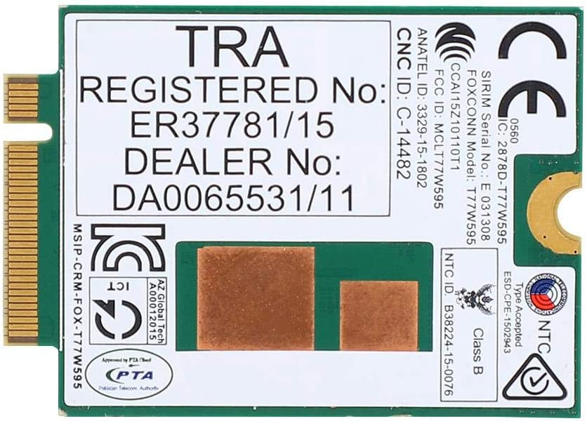 Zopsc T77W595 4G Modem Module M.2 PCIe WiFi Card Laptop Network Adapter LT4120 796928-001 for HP Probook/EliteBook 820 840 850 G2 G3, 150 Mbps