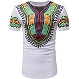 OHQ Camisa De Polo De Moda De Manga Corta De Estilo Africano De Los Hombres Blanco