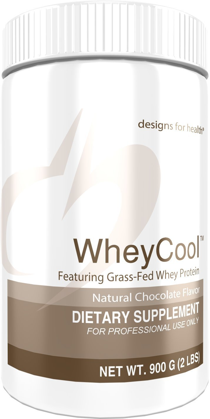 Designs for Health 20g of Grass Fed Whey Protein Powder in Chocolate - Whey Cool, 20g of Whey Protein (2 lbs / 30 Servings)