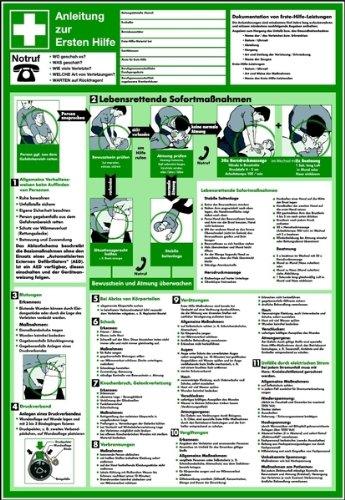 Cartel pvc instrucciones de primeros auxilios 595 x 410 ...