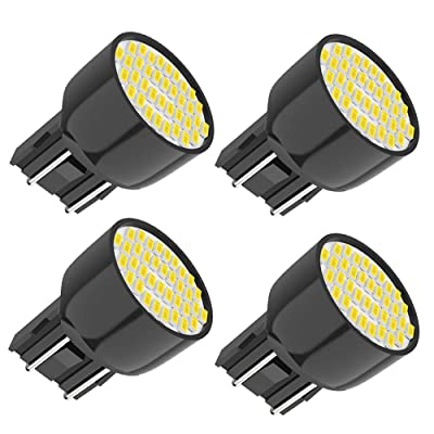 Melphan-Auto 7443 Brake Light Led Bulbs, 12V bright white light 36smd 3014 Chipsets, T20 W21W Wedge 7440 7443 7441 7444 Led bulbs for brake light Replacement for Cars Trucks 4pcs: Automotive