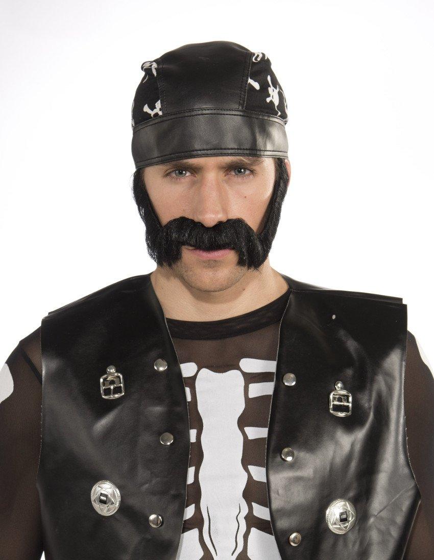Forum Novelties Men's Novelty Macho Beard, Black, One Size