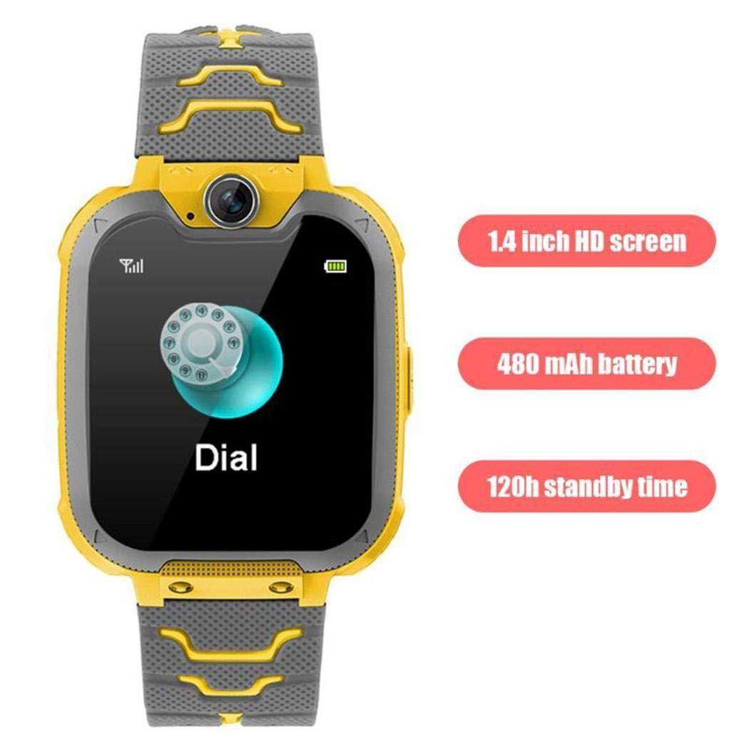 Murieo- Reloj Inteligente para niños Smart Watch Teléfono Colocación Impermeable Juego de música Anti-perdido Informática,Cámara1.3 Millones de ...
