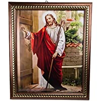 Jesus Knocking at the Door Plaque Padded Detailed Wall Picture Jerusalem Holyland