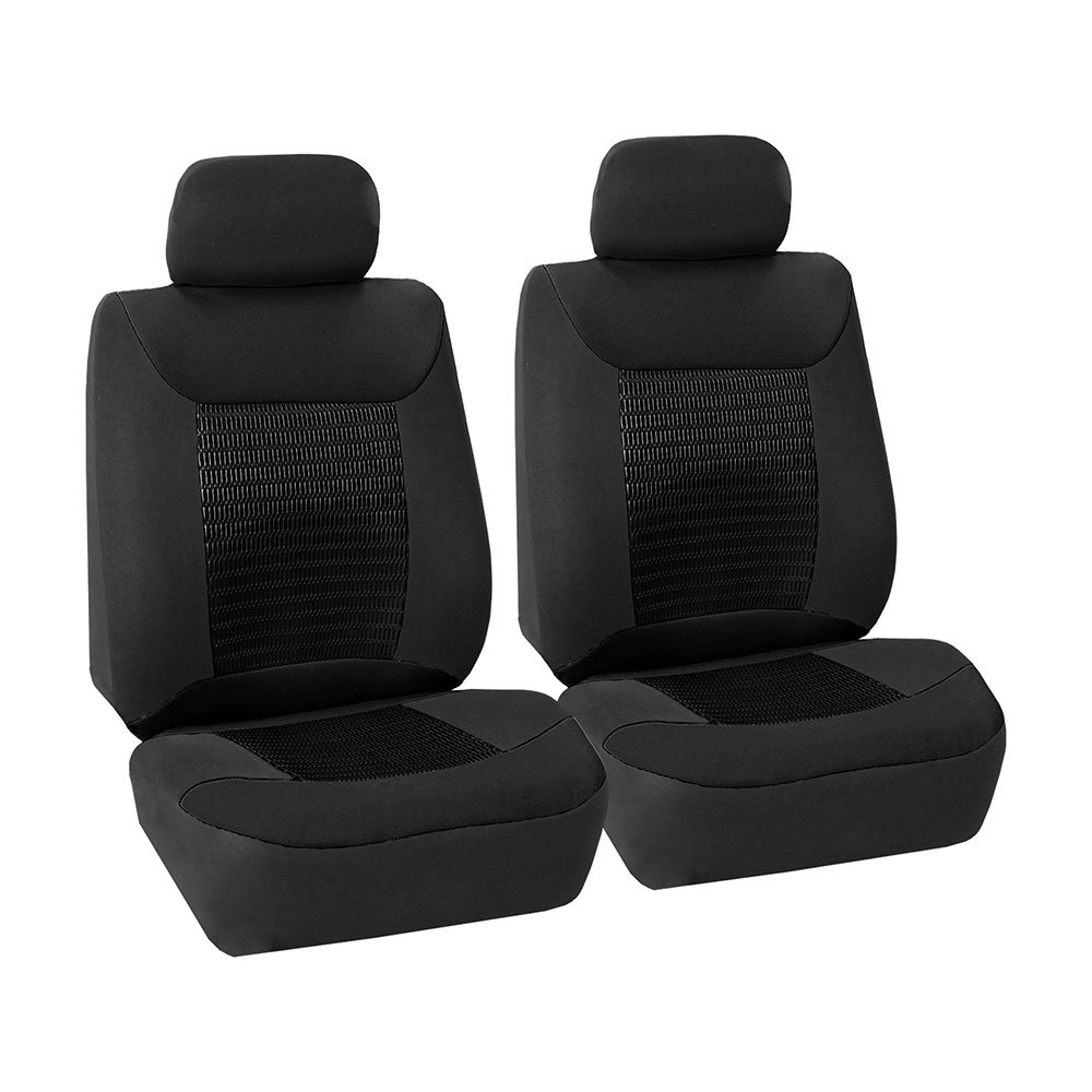 Gray Set of 2 Premium Fabric with 3D Air Mesh Airbag Compatible FH Group FB062GRAY102 Seat Cover