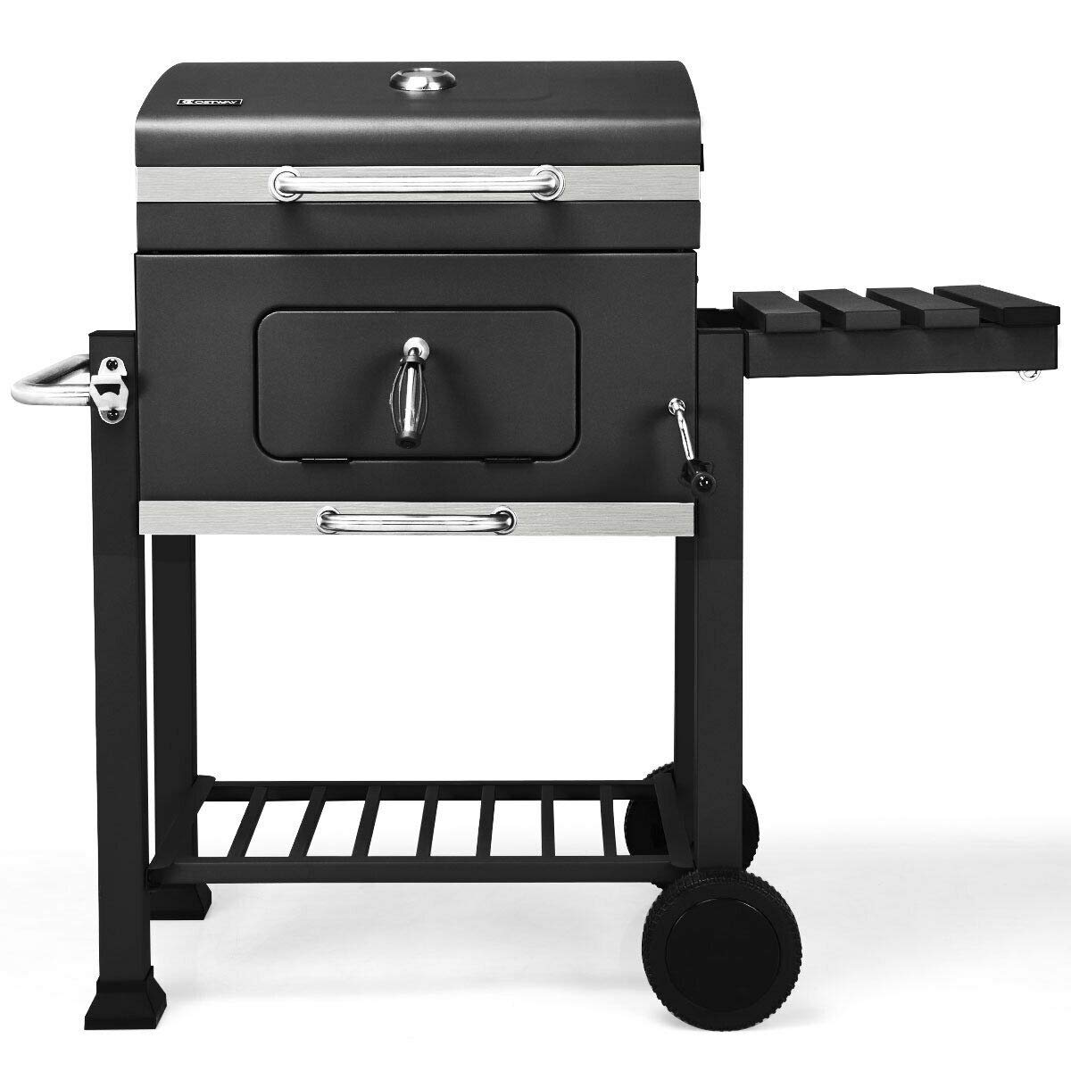 Moralty Charcoal Grill Barbecue BBQ Grill Outdoor Patio Backyard Cooking Wheels Portable by Moralty
