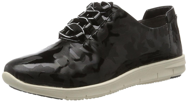 CAPRICE Damen 23601 Sneaker Schwarz (schwarz Patent)